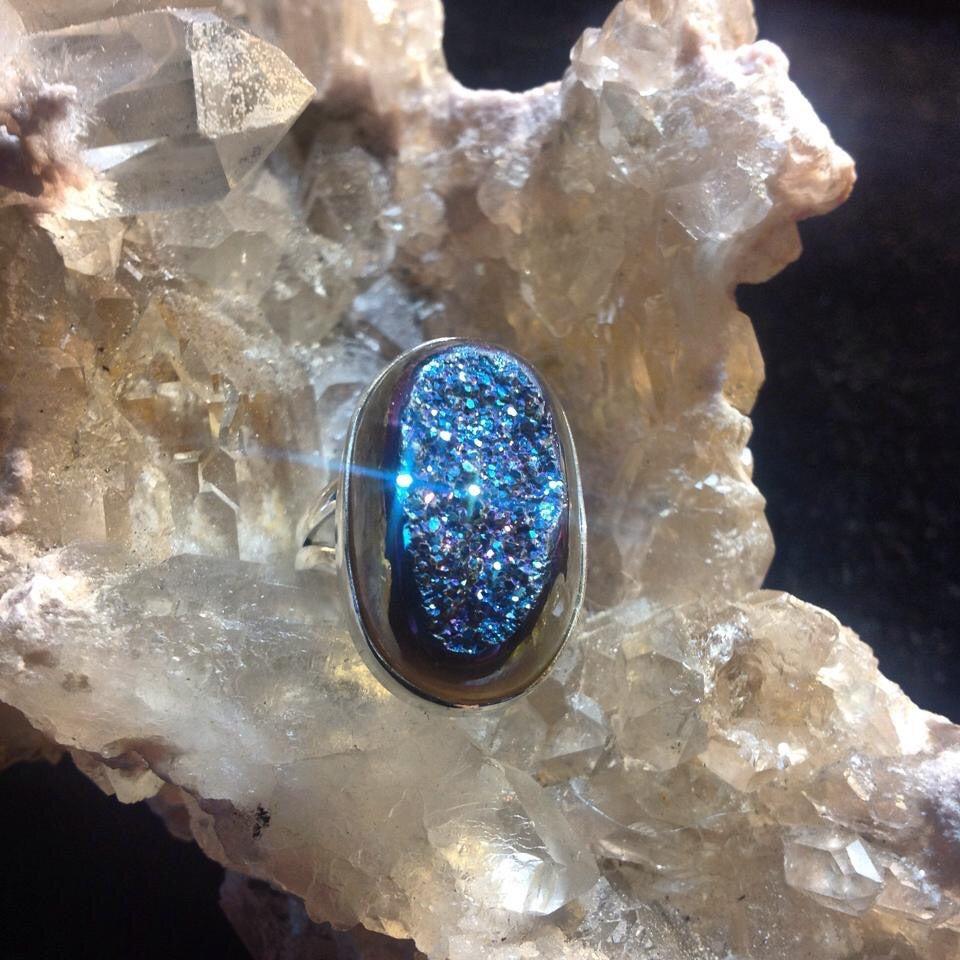 Image of Rainbow Titanium Aura Quartz Druzy