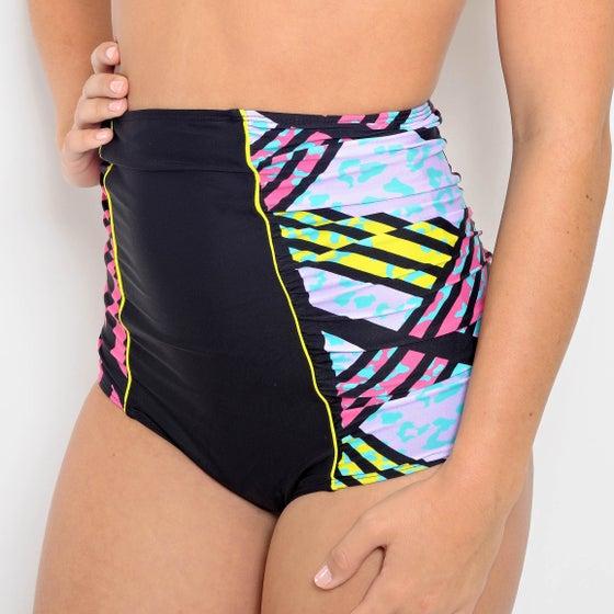Image of Super High Waist Bikini Bottoms-Retro Leopard