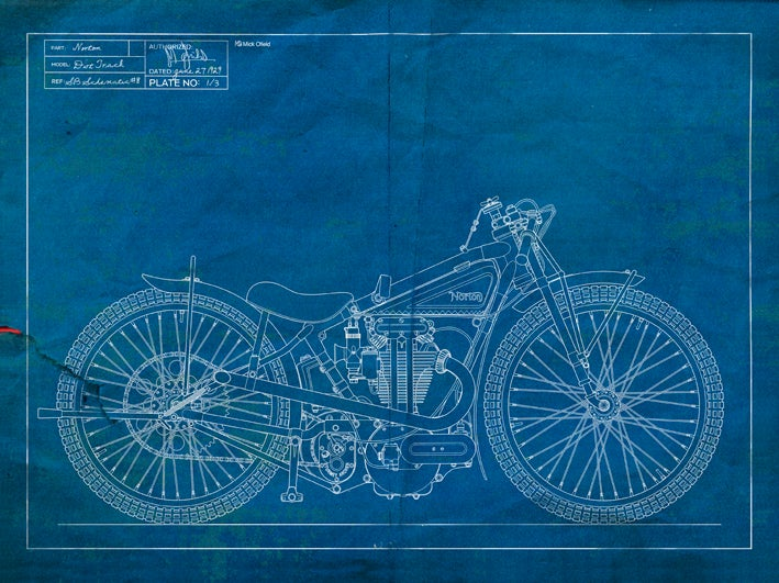 Image of Norton DT Giclee Blueprint