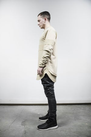 Image of Urban Flavours Mental Extended Crewneck Honey Lace