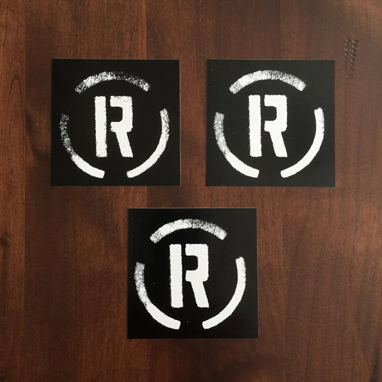"Image of Remainder ""Circle R"" logo stickers"