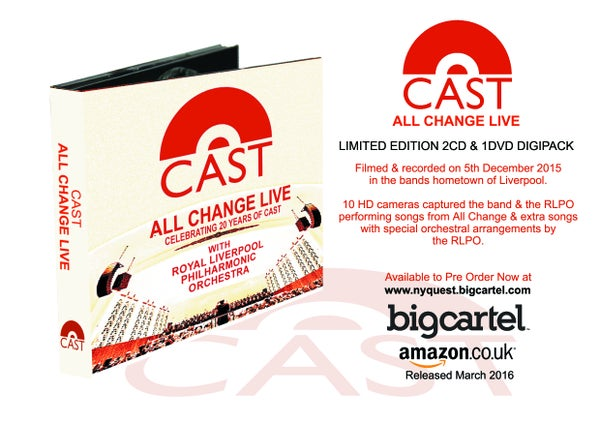"Image of SALE WAS £16.99 NOW £9.99 Cast ""All Change"" Live at the Liverpool Philharmonic Hall"