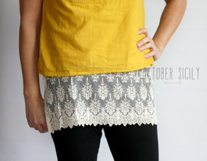 Image of Lace Top Extender,  size S only *Style 3*