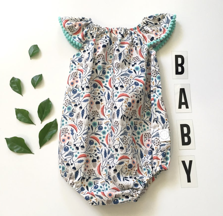 Image of Organic cotton botanic romper