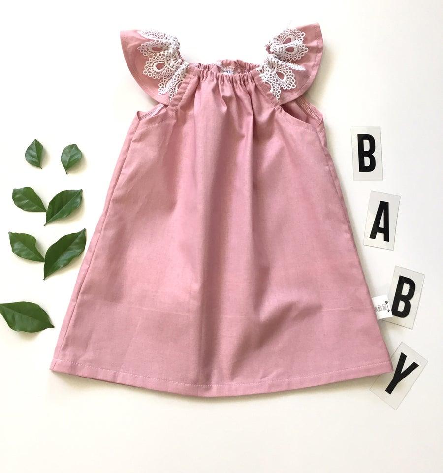 Image of Blush flutter dress