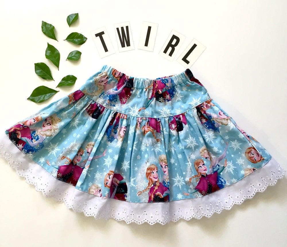 Image of frozen twirly skirt