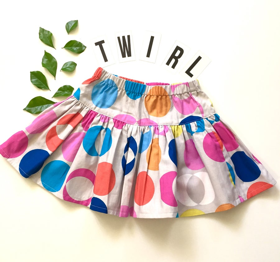 Image of Disco dot twirly skirt