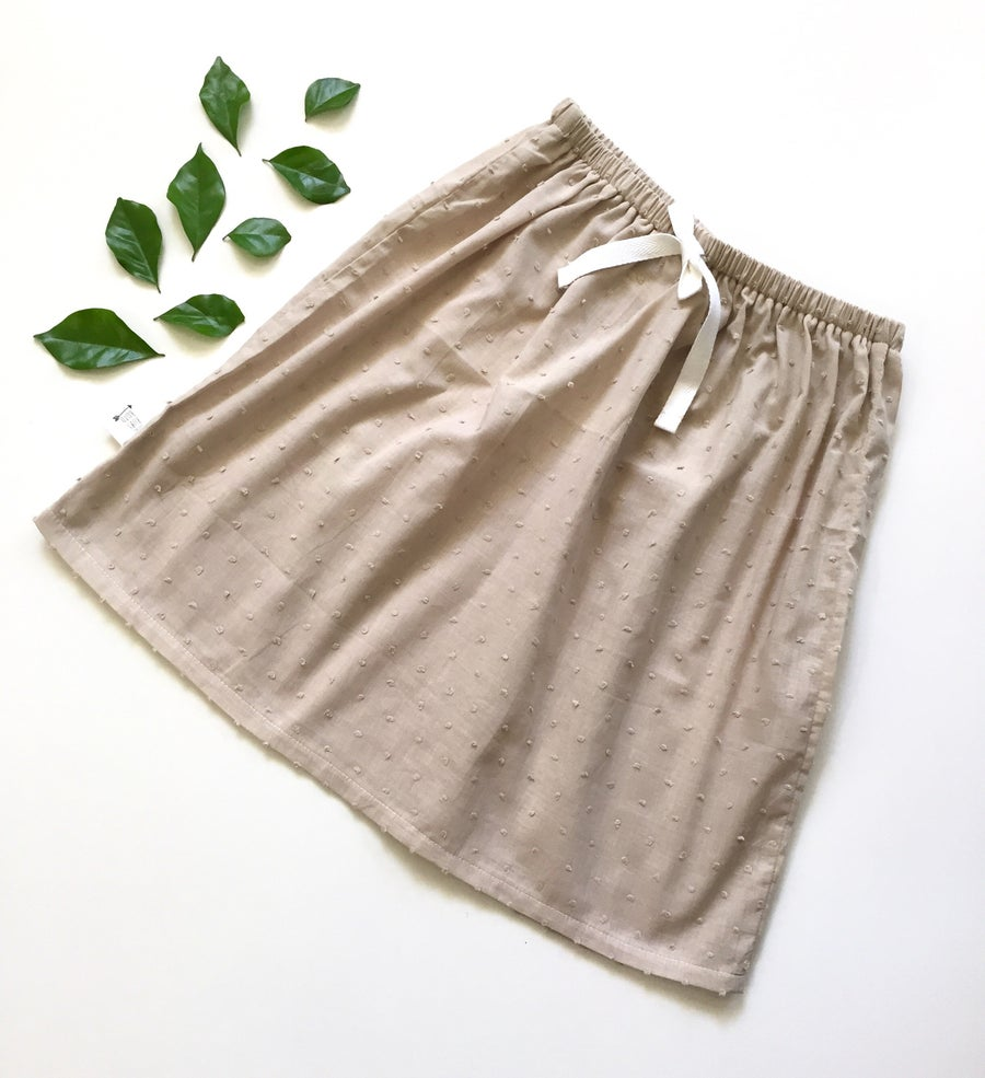 Image of Oatmeal hail spot midi skirt