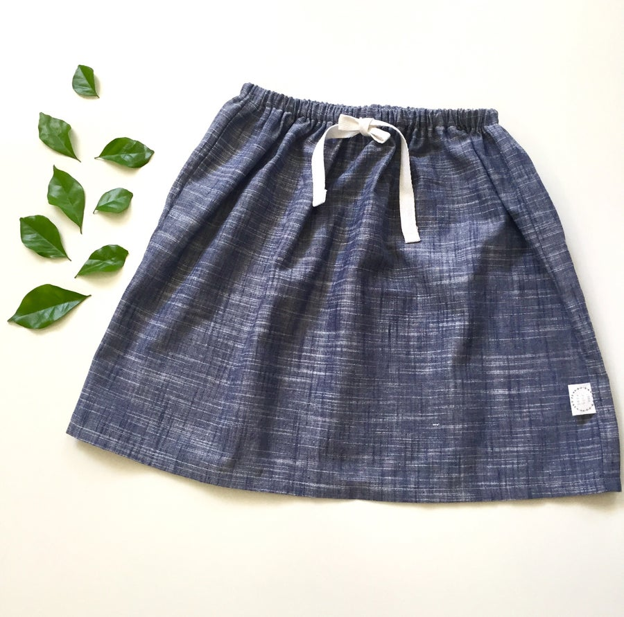 Image of Indigo midi skirt