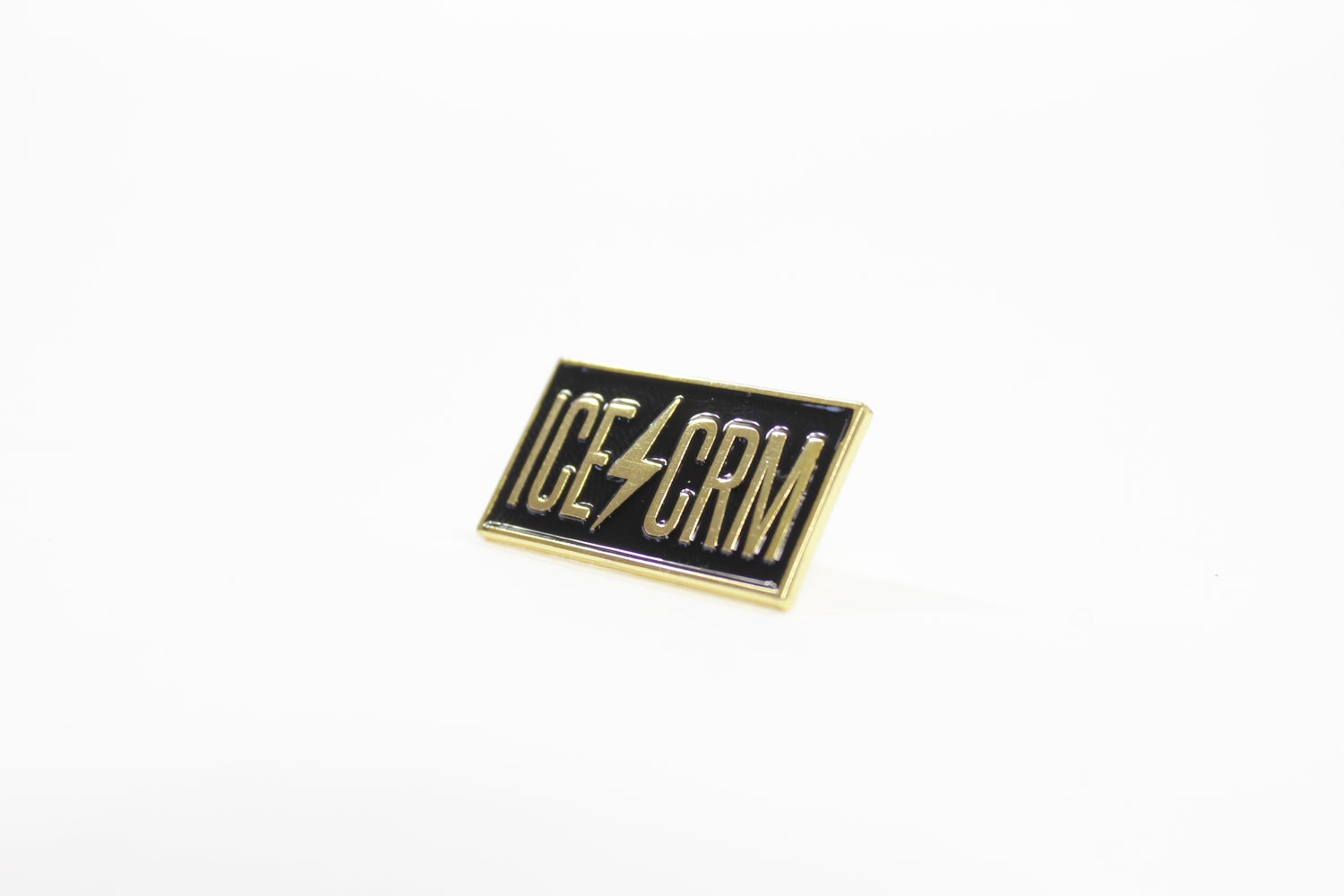 Image of ICE CREAM METAL BLACK & GOLD PIN