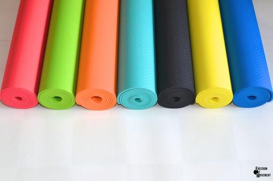 Image of Eco friendly (TPE) yoga pilates exercise mat