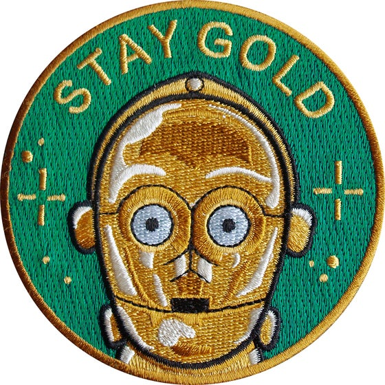 Image of C3PO Fan Art Stay Gold patch by la barbuda