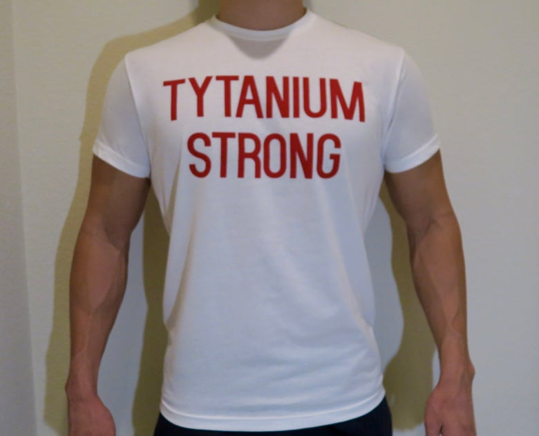 Image of Tytanium Strong White Tee