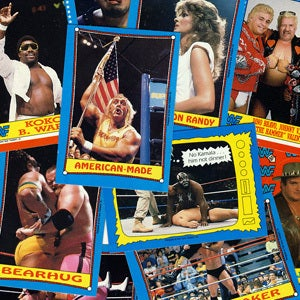 Image of WWF WRESTLING CARDS WRESTLEMANIA III - 1987