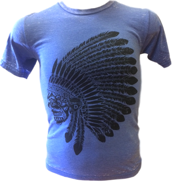Image of Royal Blue Burnout Tee