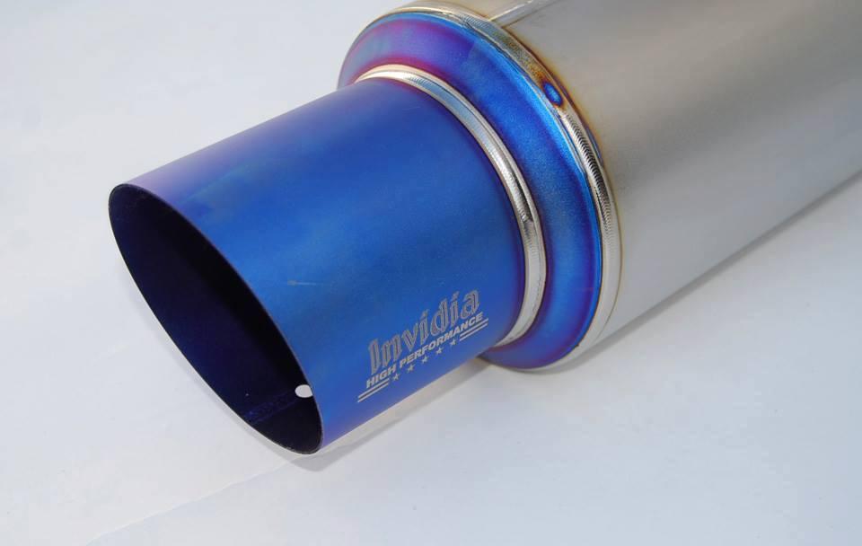 Image of Invidia 70mm Single Exit Full Titanium BRZ/FRS