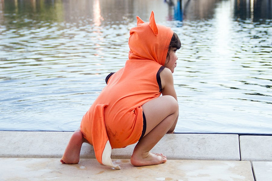 Image of Fox summer Playsuit  אוברול קיץ שועל