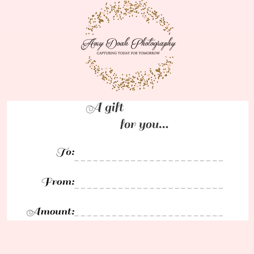 Image of Amy Doak Photography Gift Certificate