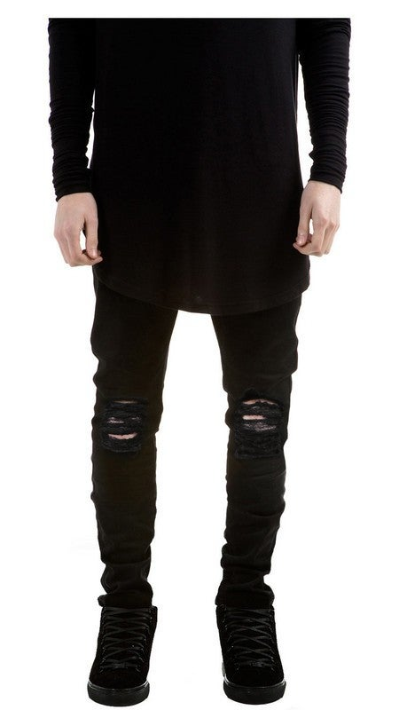 Image of BLACK // RIPPED JEANS