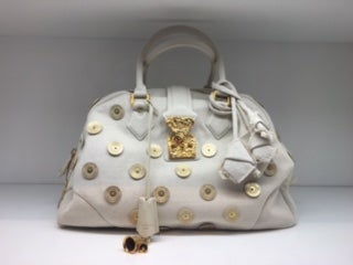 Image of Louis Vuitton Canvas Polka Dots Panama Bowly Bag