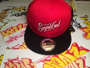 Image of Sonz of God snap back & sticker pack Red/Blk