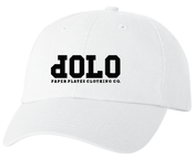 Image of PPCCO. 'dOLO' Unstructured Hat: White/ Black