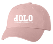 Image of PPCCO. 'dOLO' Unstructured Hat: Pink/ White