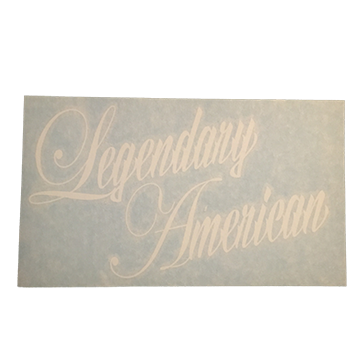 Image of Legendary American Script die cut sticker