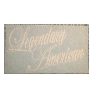 Image of Legendary American Script die cut sticker