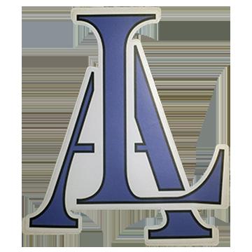 Image of Legendary American LA Logo sticker in blue