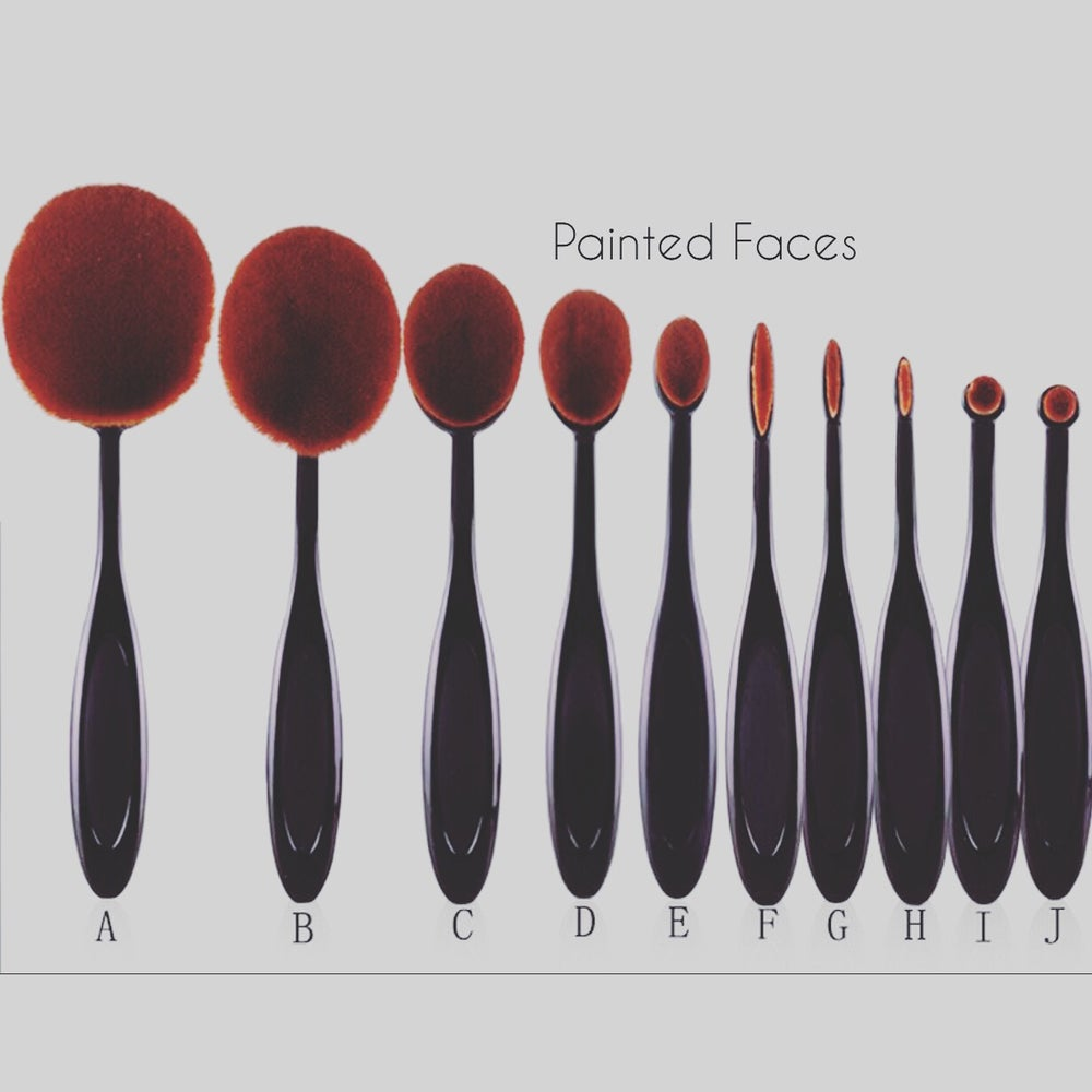 Image of Oval cream brushes