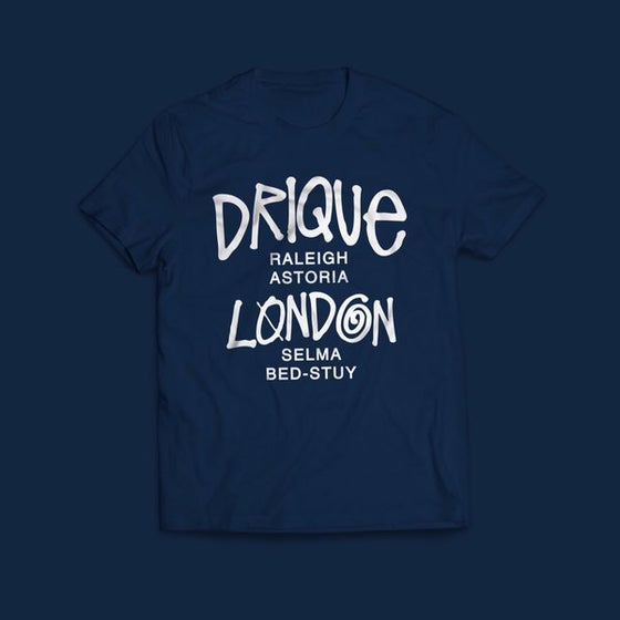 """Image of Drique London """"The Town"""" Tee (Navy Blue)"""