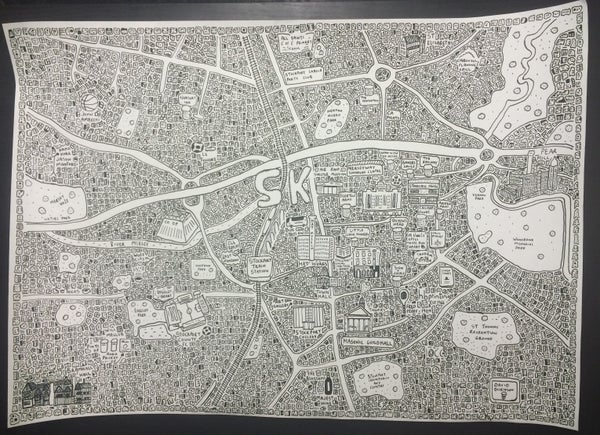 Image of Stockport Doodle Map