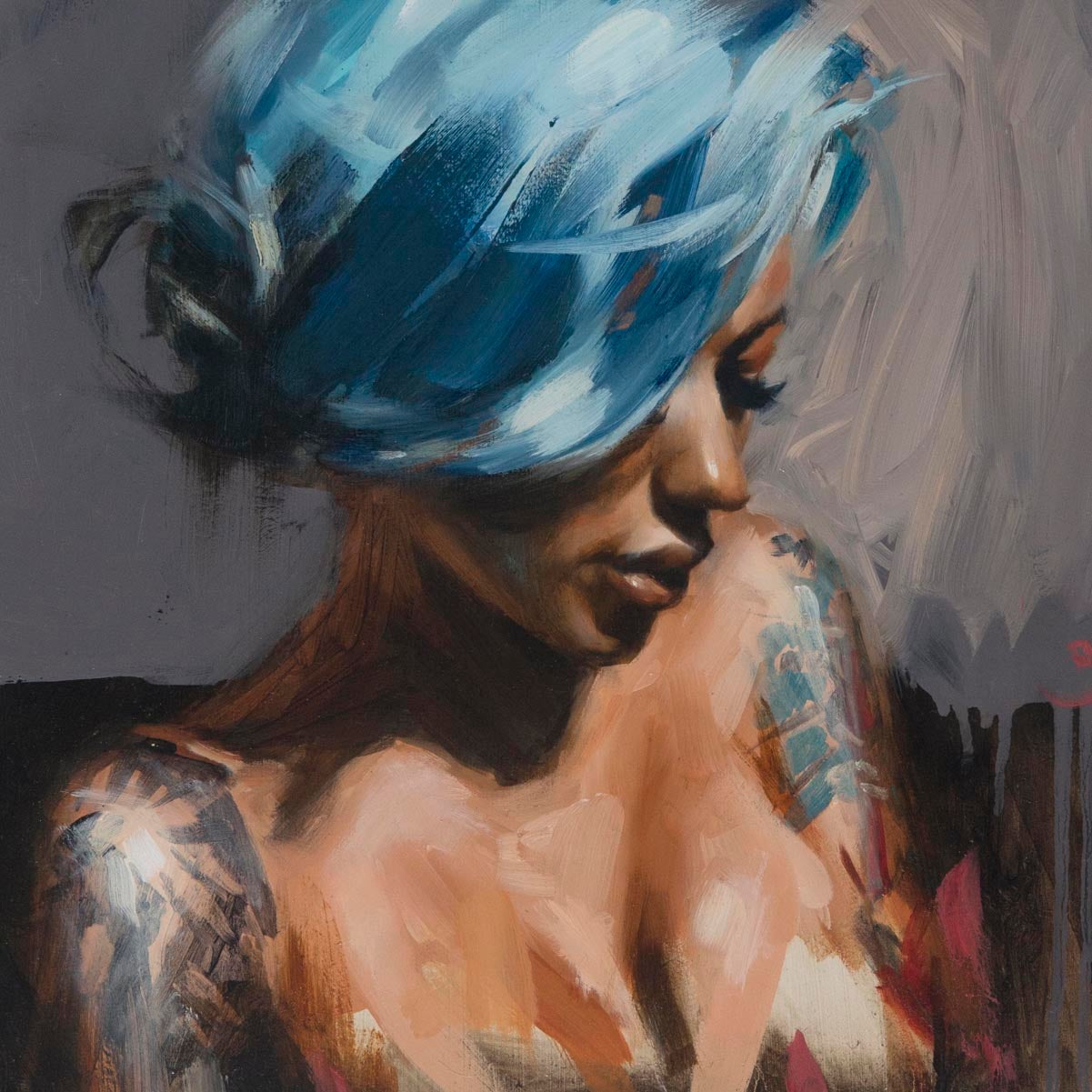 Image of Limited Edition 'Becky Blue' Lithograph Print