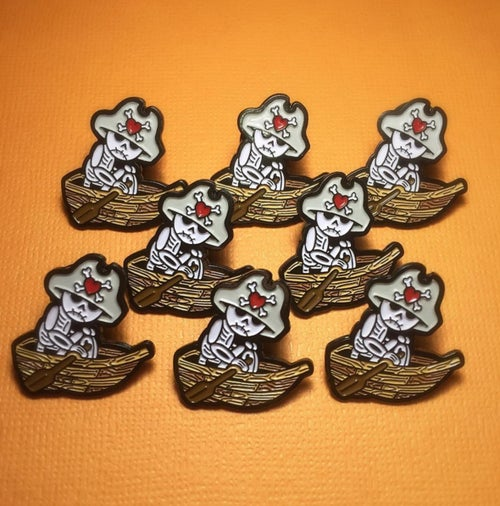 Image of Deadbeats Club: Skeleton - Lapel Pin