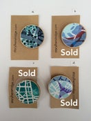 Image of Original Gelli print wooden badges