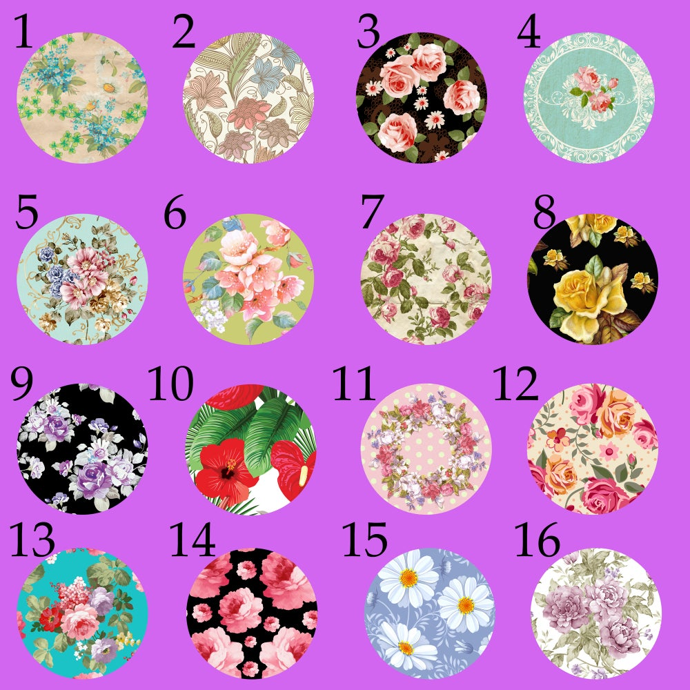 "Image of Floral Print Plugs 2 (sizes 2g-2"")"
