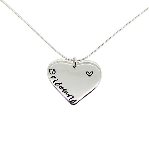 Image of Personalised Sterling Silver Love Heart Necklace