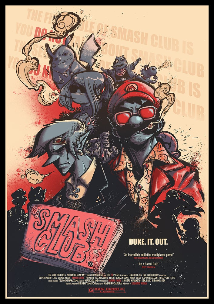 "Image of PRINT- Smash Club (11"" x 17"")"