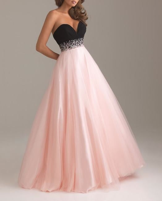 Image of HOT WEDDING LONG STRAPLESS SHINING DRESS