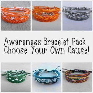 Image of AWARENESS BRACELET PACK - YOU CHOOSE YOUR CAUSE!