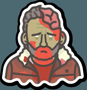Image of 2 x Zombie Rick Stickers