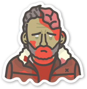 Image of 2 x Zombie Rick Stickers