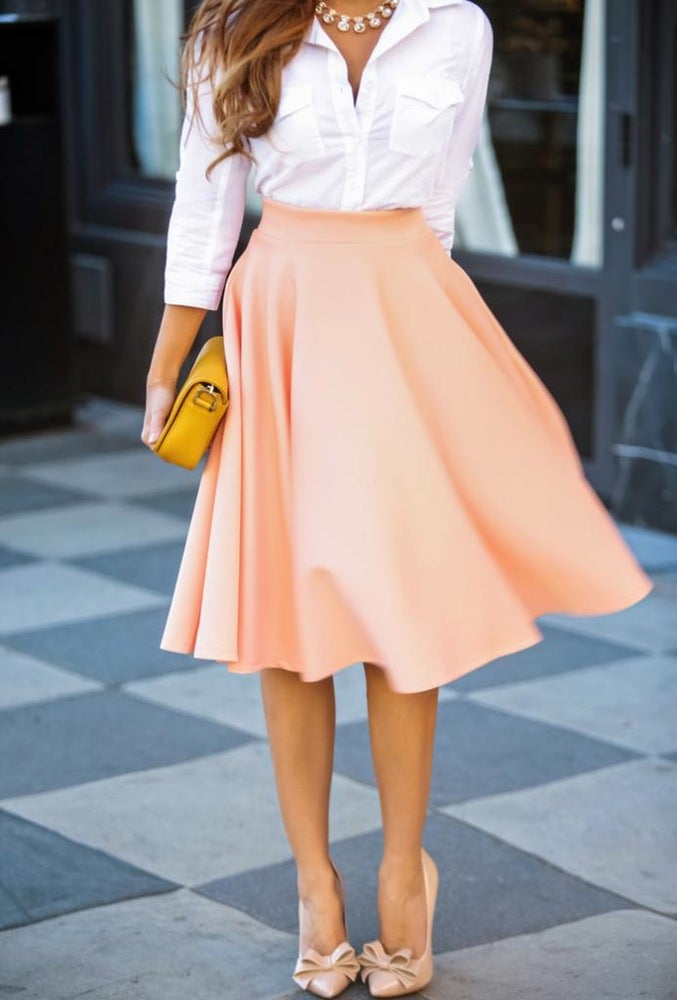 Image of FASHION HOT PURE COLOR SKIRT HIGH QUALITY