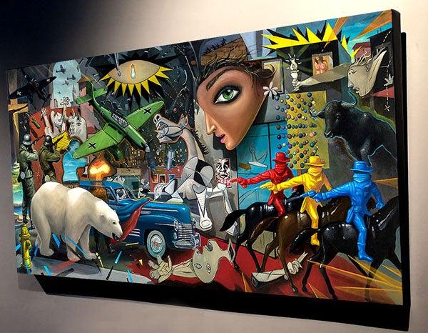 Image of Geoffrey Gersten 'MK-ULTRA GUERNICA' canvas print