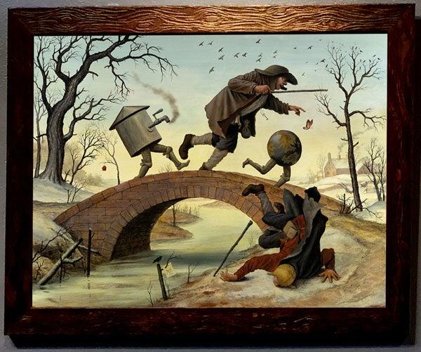 Image of Mike Davis 'The Bridge' wood print