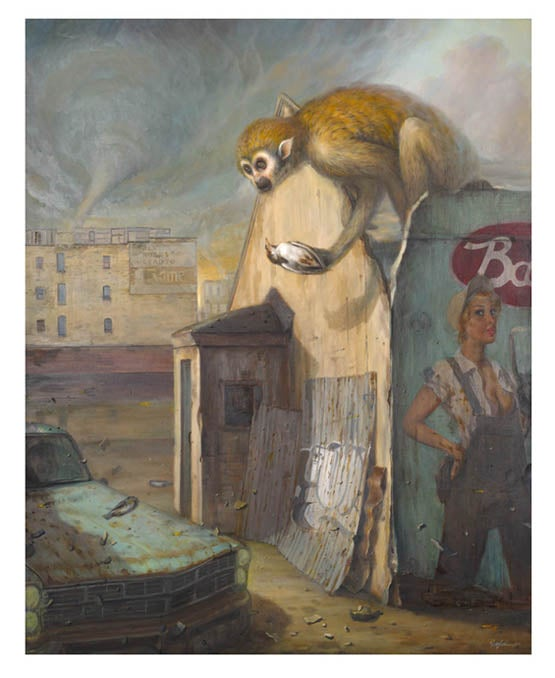 Image of Martin Wittfooth 'Tempest' giclée print
