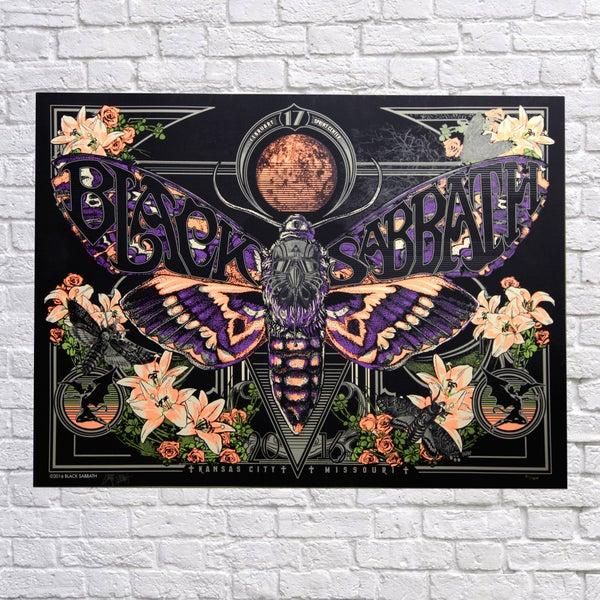 Image of BLACK SABBATH 'Never say Death's head' Kansas City Poster