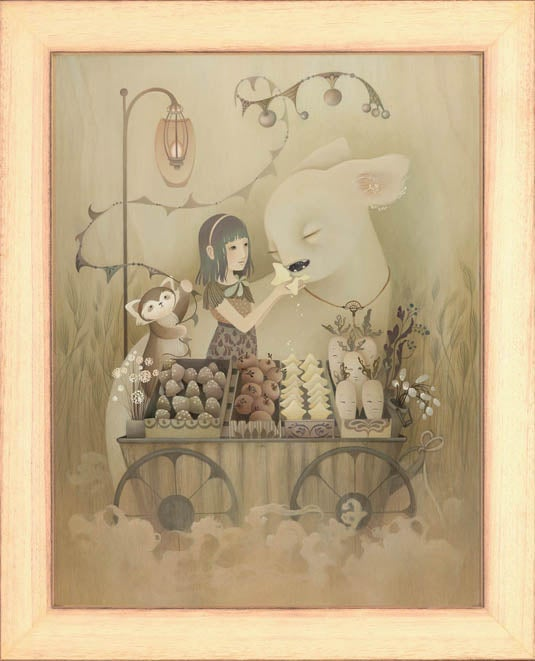 Image of Amy Sol 'Starlight Crumble' wood print