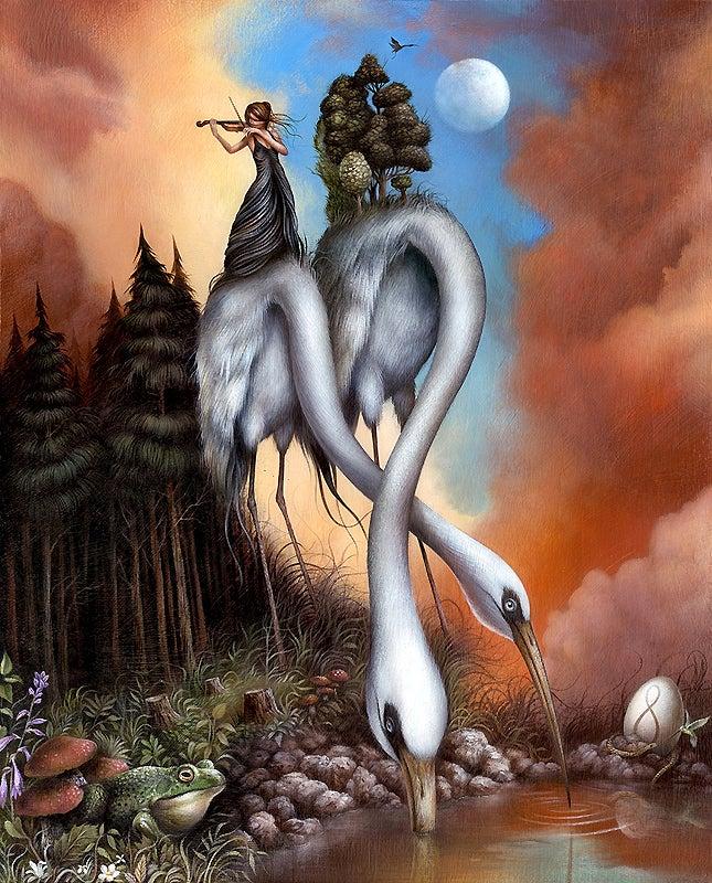 Image of Dan May 'The Infinite Search for Perfection' original art